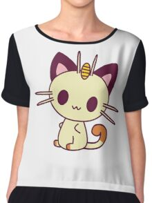 Kawaii Chibi Meowth Cat Chiffon Top
