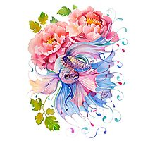 Flower Fish #1 Photographic Print
