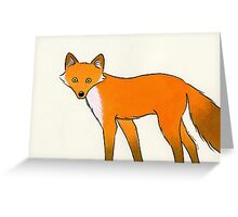 I Can See You Mr Fox Greeting Card