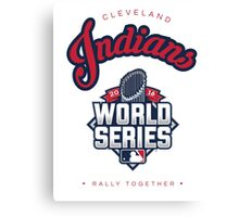 Cleveland Indians World Series #RallyTogether Canvas Print