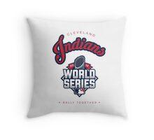 Cleveland Indians World Series #RallyTogether Throw Pillow