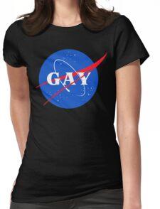 Nasa Gay Pride Logo Womens Fitted T-Shirt