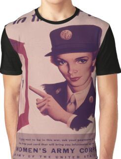 Vintage poster - Women's Army Corps Graphic T-Shirt