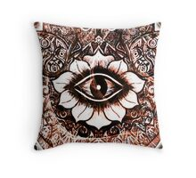 Hamsa Hand Design Throw Pillow