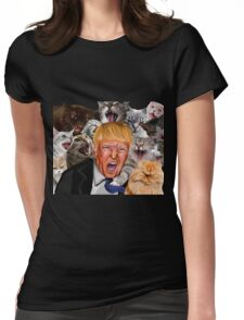Donald Trump: Pussy Grabs Back  Womens Fitted T-Shirt