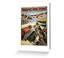 Vintage poster - Indianapolis Motor Speedway Greeting Card