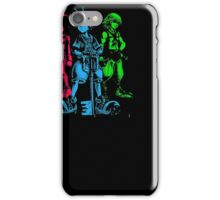 Hearts Key Runners Men Black T-shirt iPhone Case/Skin