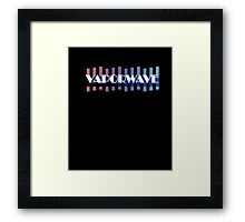 VAPORWAVE Retro Style 80s and 90s Inspired T-Shirt Framed Print