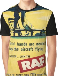 Vintage poster - Royal Air Force Graphic T-Shirt