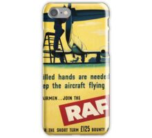 Vintage poster - Royal Air Force iPhone Case/Skin