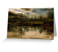 The Bench On Top Of The Hill Greeting Card