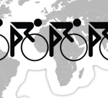 The Bicycle Race 3 Black Sticker