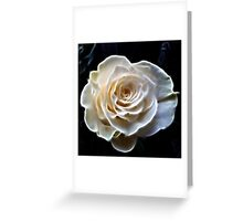 White abstract fractal rose flower Greeting Card