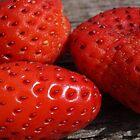 fresh strawberries by BigAndRed