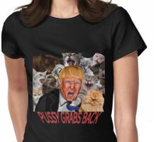 Trump, Pussy Grabs Back Womens Fitted T-Shirt
