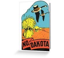 North Dakota ND State Vintage Travel Decal Greeting Card