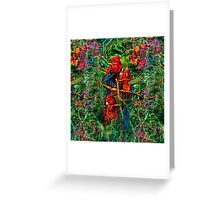Qualia's Parrots Repeating Greeting Card