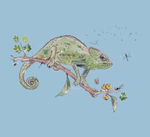 The colourful world of Chameleons One Piece - Short Sleeve