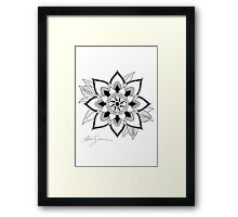 Mandala 001 Outline Framed Print