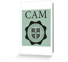 Cambridge University Student Souvenir T-Shirt Greeting Card