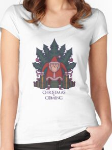 Santa of Thrones: Christmas Is Coming Women's Fitted Scoop T-Shirt
