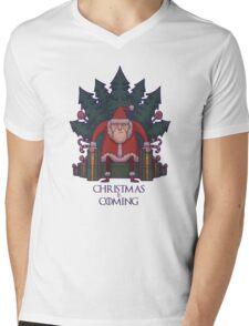Santa of Thrones: Christmas Is Coming Mens V-Neck T-Shirt