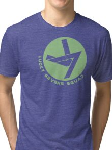 Lucky Sevens (Green) Tri-blend T-Shirt