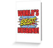 World's Best Husband Greeting Card