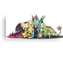 My Pokemon Team Canvas Print