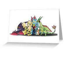 My Pokemon Team Greeting Card