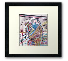 history of humankind on a cosmic level Framed Print