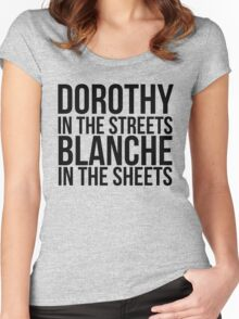 Dorothy In The Street Blanche In The Sheets Women's Fitted Scoop T-Shirt