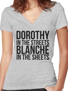 Dorothy In The Street Blanche In The Sheets Women's Fitted V-Neck T-Shirt