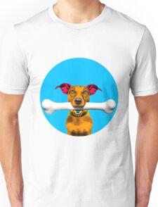 Blue Bubble Jack Russell Dog Pop Art Unisex T-Shirt