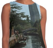Our first sight of Campanile and the Devils Bridge at Torcello Venice Italy 19840730 0011 Contrast Tank
