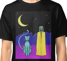 Space cat alien witch girl moon galaxy sorceress  Classic T-Shirt