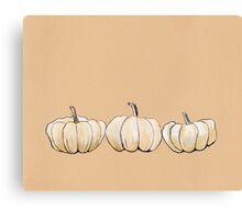 Thanksgiving poster - White pumpkins Canvas Print