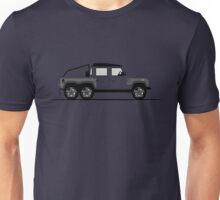A Graphical Interpretation of the Defender 110 Double Cab Pick Up Flying Huntsman 6x6 Unisex T-Shirt