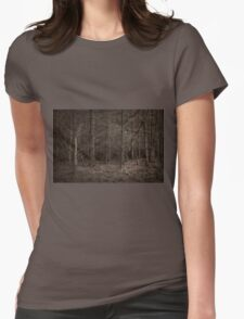 Dusk Forest View Womens Fitted T-Shirt
