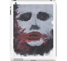 Creepy Smeared Makeup Man - V1 iPad Case/Skin