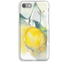 Lemon branch - watercolour iPhone Case/Skin