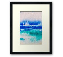 Sea Spray in Turquoise and Teal Framed Print