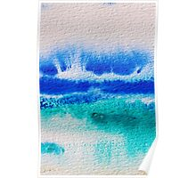 Sea Spray in Turquoise and Teal Poster