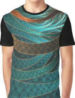 Beautiful Corded Leather Turquoise Fractal Bangles Graphic T-Shirt