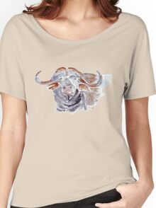 African buffalo or Cape buffalo (Syncerus caffer) Women's Relaxed Fit T-Shirt