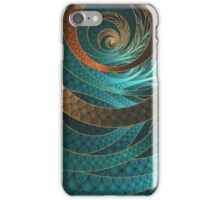 Beautiful Corded Leather Turquoise Fractal Bangles iPhone Case/Skin