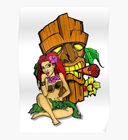 Pin Ups and Tikis  Poster
