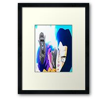 HARAMBE RIP FIGHTS ANDROIDS dragon Ball z Framed Print