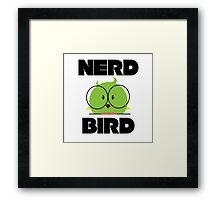 Nerd Bird with glasses Framed Print