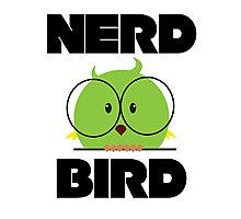 Nerd Bird with glasses Photographic Print